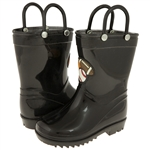 Capelli New York Boys Shiny Solid Opaque with Handles Jelly Rain Boot