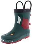 Capelli New York Toddler Boys Dragon Rain Boots Green Combo