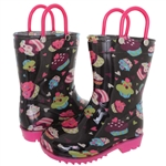 Capelli New York Toddler Girls Cupcake Printed Rain Boot
