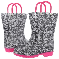 Capelli New York Toddler Girls Lace Print Rain Boot