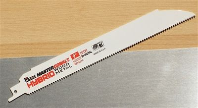 "MK Morse Master Cobalt® Hybrid 9"" - 10 TPI Heavy Duty Wood/Metal Combination Sawzall Reciprocating Saw Blade"
