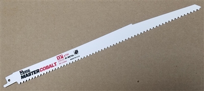 "12"" - 6 TPI Heavy Duty Demolition / Wood Cutting Sawzall Reciprocating Saw Blade"