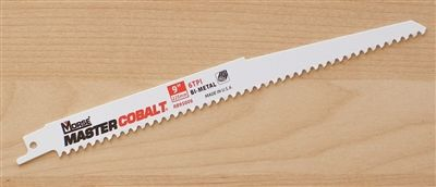 "9"" - 6 TPI Heavy Duty Demolition / Wood Cutting Sawzall Reciprocating Saw Blade"