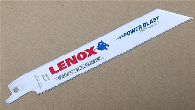 "Lenox 6"" - 10 TPI Wood & Metal Cutting Reciprocating Saw Blade"