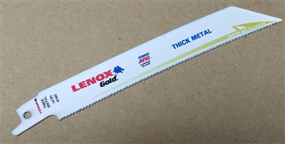 "Lenox Gold Power Arc 6"" - 14 TPI Heavy Duty Metal Cutting Reciprocating Saw Blade"