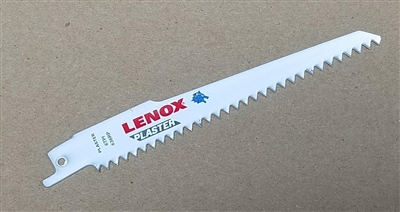 "Lenox 636RP 6"" - 6 TPI HD Plaster, Lath and Drywall Sawzall Reciprocating Saw Blade"
