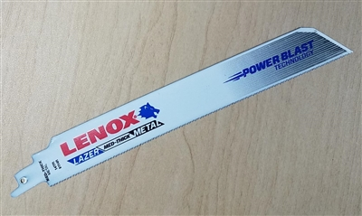 "Lenox 9"" - 14 TPI Lazer Metal Cutting Reciprocating Saw Blade"