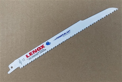 "Lenox 9"" 6R Heavy Duty Wood Cutting Sawzall Reciprocating Saw Blade"