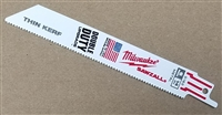 "Milwaukee Sawzall Blade, Metal Cutting, 6"" - 14 TPI Thin Kerf Reciprocating Saw Blade"