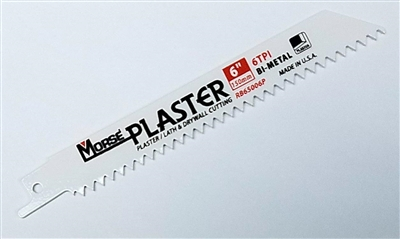 "MK Morse 6"" - 6 TPI Heavy Duty Plaster, Lath and Drywall Sawzall Reciprocating Saw Blade"