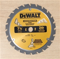 "7 1/4"" x 24T Carbide Tipped Circular Saw Blade"