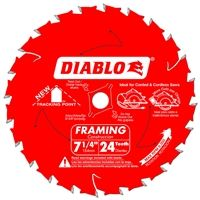 "7 1/4"" x 24T Carbide Tipped Diablo Saw Blade"