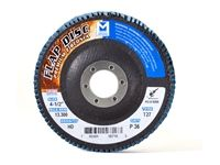 "Type 27 Zirconia Flap Disc, 60 Grit, 4-1/2"" x 7/8"""