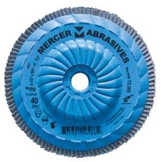 "Type 27 Zirconia Trimmable Flap Disc, 40 Grit, 4-1/2"" x 5/8""-11"