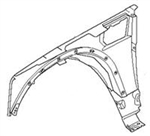 2006-2009 Range Rover Fender - Right Front(Passenger's side) (4.4L Sport & 4.2L Supercharged Sport)