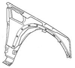 2006-2009 Range Rover Fender - Left Front(Drivers side) (4.4L Sport & 4.2L Supercharged Sport)