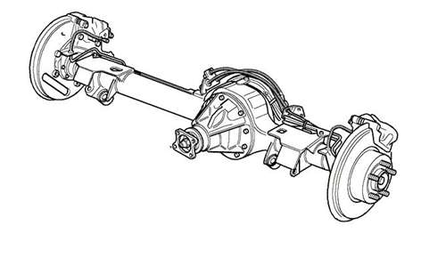 Range Rover P38 Rear Axle Assembly
