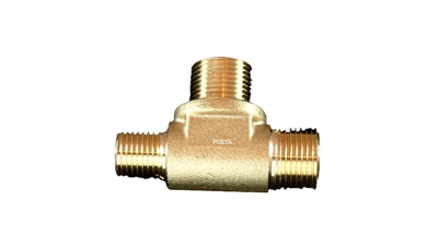 "Astoria-Wega T-Shaped Brass Fitting For Boiler | 3/8""M-3/8""M-1/4""M"