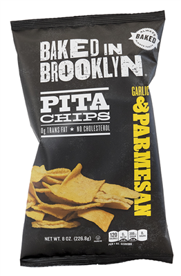 BAKED IN BROOKLYN  - Parmesan Garlic Pita Chips 226.8g (large) [12]