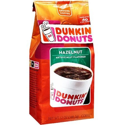 Dunkin Donuts Hazelnut Ground Coffee