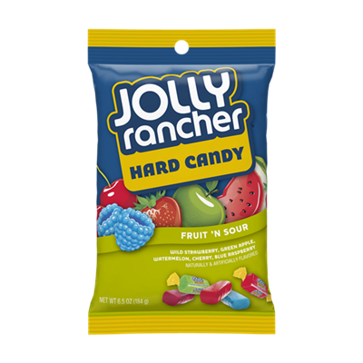 Jolly Rancher Fruit n' Sour Hard Candy - Peg Bag
