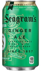Seagrams Ginger Ale Soda Cans, 12 oz (24 pack)