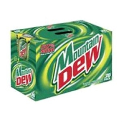 36 Pack Mountain Dew Cans
