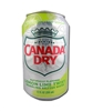 24 pack Canada dry seltzer lemon lime cans
