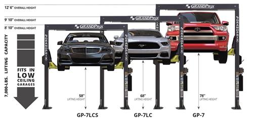 BendPak GrandPrix™ is a GP-7LC 7,000-lb  capacity two-post car lift 118 5