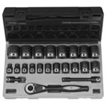 "GRE82622 1/2"" Dr. 22pc Fractional Duo-Socket Set - 6 Pt."