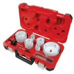 MLW49-22-4105 19PC MASTER ELECTRICIANS ICE HARDED HOLE SAW KIT