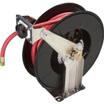 RH-50PL Dual Support, Spring Rewind Hose Reel and 50' / 300 psi Hose