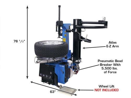 Atlas Tc755ez Tire Changer Tc755ez Arm Wheel Clamp Tire Changer W