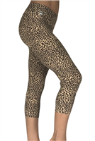 Women's Fitness Capris - Jungle Cat