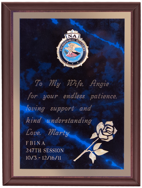 Rose Wood Plaque
