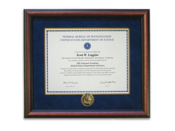 Cherry Certificate Frame with Basic Coin