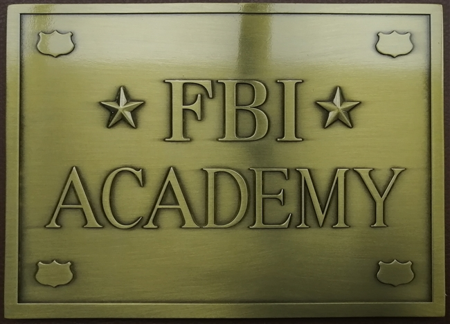 FBI Academy Zinc Plate with NA mission