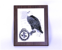 Marble Eagle Plaque