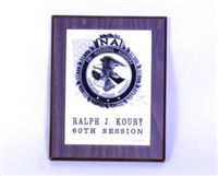 Marble FBINA Seal Plaque