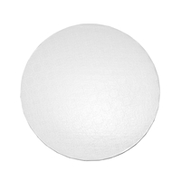 "10"" ROUND CAKE DRUM - GLOSS WHITE"