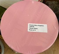 "12"" ROUND CAKE DRUM - GLOSS HOT PINK"
