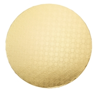 "12"" ROUND CAKE WRAP AROUND (1/4"" THICK) - GOLD FOIL"