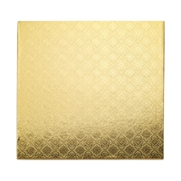 "12"" SQUARE CAKE WRAP AROUND (1/4"" THICK) - GOLD FOIL"
