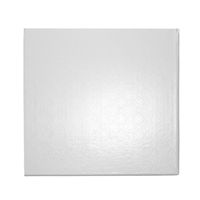 "12"" SQUARE CAKE WRAP AROUND (1/4"" THICK) - WHITE GLOSS"