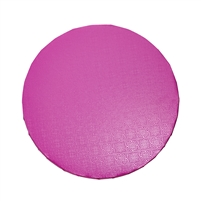 "14"" ROUND CAKE DRUM - GLOSS HOT PINK"