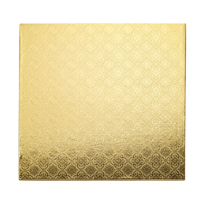 "16"" SQUARE CAKE DRUM  - GOLD FOIL"
