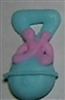 Royal Icing Baby Rattle (Large) - Blue w/ Pink Ribbon