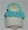 Royal Icing Sleeping Baby In Blanket (Large) - White w/ Blue