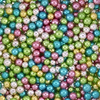 ASSORTED COLOR METALLIC DRAGEES - 4.5MM