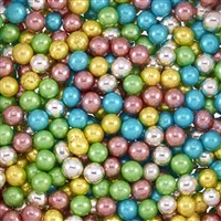 ASSORTED COLOR METALLIC DRAGEES - 6.5MM